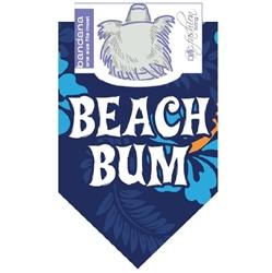 Dog Bandana Beach Bum Blue by Dog Fashion Living (2 PACKS)