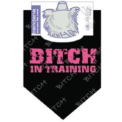 Dog Bandana Bitch in Training by Dog Fashion Living  (2 PACK)