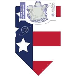 Dog Bandana American Flag by Dog Fashion Living  (2 PACK )