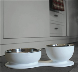 SupperTime Double Bowl Set for Dog or Cat by DFBeautifool PET