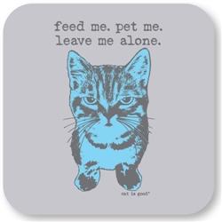 Leave Me Alone Cat Coaster