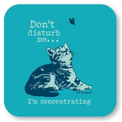Concentrating Cat Coaster