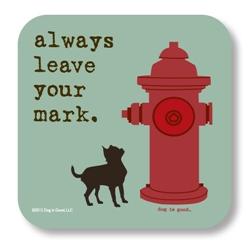 Leave Mark Coaster