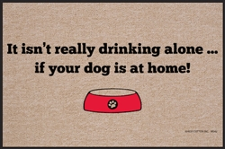 Drinking Alone Doormat
