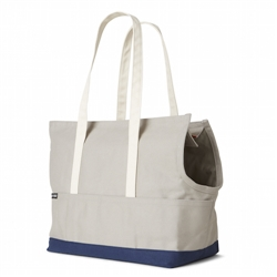 Canvas Pet Tote Grey & Navy
