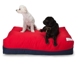 Flip Stitch Bed Navy & Red