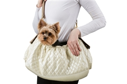 Gigi Sling - Ivory Quilted