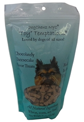 Organic Chocolately Cheesecake Toy Temptations Dog Treats by DogChewz NYC