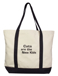 "BARKOLOGY® ""Cats are the New Kids"" Boat Tote Bag"