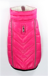 Featherlite Reversible-Reflective Puffer Vest  - Pink/White