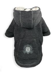 Crest Fleece Hoodie - Grey