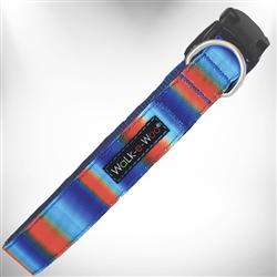 Blue/Orange Tie Dye Dog Collars and Leads