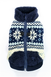 Soft Snowflake Fleece Vest - Blue