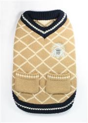 Royal Crest Sweater Vest - Tan