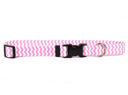 Watermelon Chevron Standard Collar