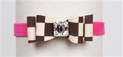 "Pink Sapphire Windsor Check ""Really"" Big Bow"