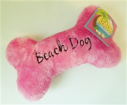 Beach Dog Bone - Pink - Small