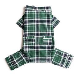 Green Plaid Flannel Pajamas