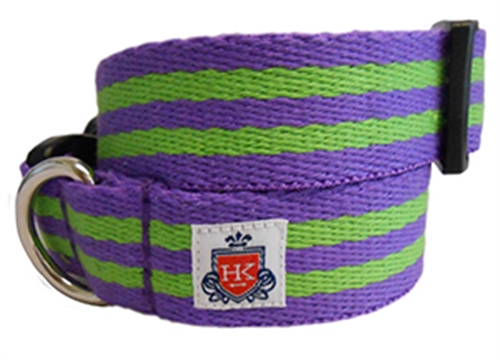 The Henley Collection Purple & Green Stripe Collars and Leashes by Huxley & Kent