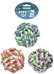 "4.5"" Rope Monkey Fist Ball Dog Toy 230 G"