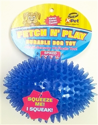 Fetch N Play Squeaky Knubby TPR Football Dog Toy 4.5""
