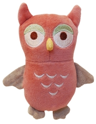 """Beginnings 4"""" Flat Owl w/ squeaker - Red"""