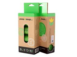 The Original Poop Bags Rolls Made from Plants (4 Roll Packs, by the case)