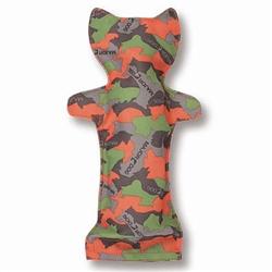 Major Dog Bottle Cat - Camo Green/Orange  12.5 in