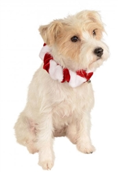 Rubie's Candy Cane Collar in Red & White