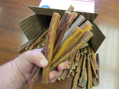 """100 Piece Bully Stick 6"""" Steer Jerky FREE DOMESTIC SHIPPING"""