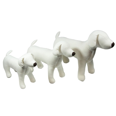 Dogquin Dog Display Canvas Mannequin with Bendable Legs (3 sizes)