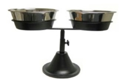 Barstool Double Adjustable Raised Feeder Diner Includes Stainless Bowls
