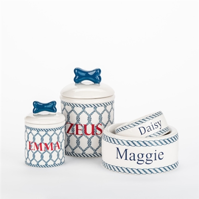 Personalized Nautical Bowls and Treat Jars Collection*