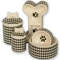 Personalized Houndstooth Bowls & Treat Jars Collection*