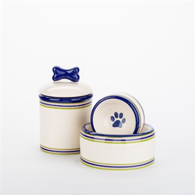 Preppy Stripe Bowls & Treat Jars Collection