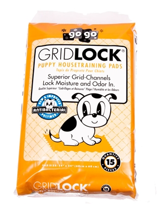 """24"""" x 24"""" GridLock® Puppy Housetraining Pads by GoGo®"""