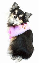Luxurious Fur Cape - Pink