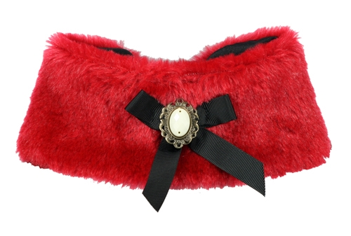 Luxurious Fur Cape - Red
