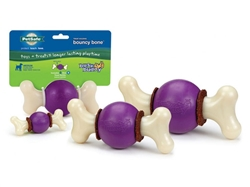 Busy Buddy® Bouncy Bone™  Chew Toy w/ Gnawhide® Treats