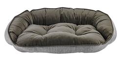Crescent Bed Allumina Microlinen (Dusk Microvelvet Reverse)
