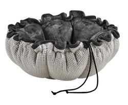 Buttercup Bed Aspen Chenille (Grey Teddy Faux-Fur Inside)