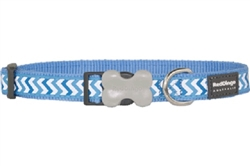 Mid-Blue Reflective Ziggy Collars, Leads, and Harnesses