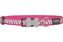 Hot Pink Reflective Ziggy Collars, Leads, and Harnesses