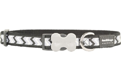 Black Reflective Ziggy Collars, Leads, and Harnesses