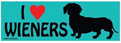 I Heart Weiners Bumper Magnets