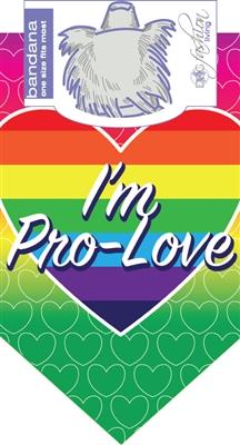 Dog Bandana I'm Pro Love (2 PACK)