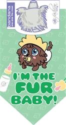 Dog Bandana I'm the Fur Baby! by Dog Fashion Living (2 PACK)