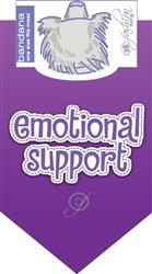 Emotional Support Dog Bandana by Dog Fashion Living  (2 PACK)