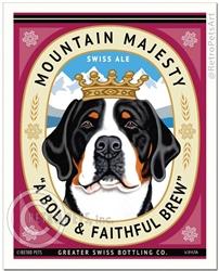 Mountain Majesty-(Greater Swiss Mtn. Dog )