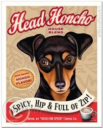 Head Honcho - Min Pin-(Miniature Pincsher)